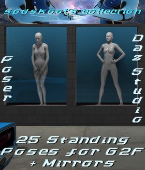 25 Standing Poses for G2F and Mirrors 3D Figure Assets spdskool