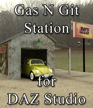 Gas N Git Station for DAZ Studio  3D Models VanishingPoint