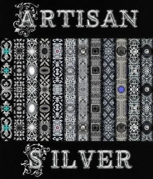 Artisan Silver Seamless Texture Pack 2D Graphics Merchant Resources fractalartist01