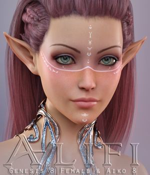 Alifi For Genesis 8 Female & Aiko 8 3D Figure Assets Freja