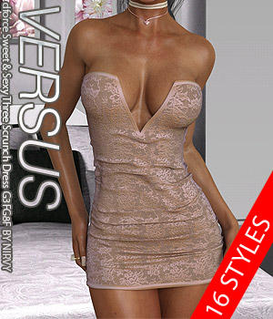 VERSUS - dforce Sweet & Sexy Three Scrunch Dress G3FG8F EXPANSION 2 3D Figure Assets Anagord