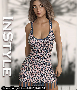 InStyle - dforce Fringe Dress G8 3D Figure Assets -Valkyrie-