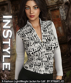 InStyle - X-Fashion LightWeight Jacket for Genesis 8 Females 3D Figure Assets -Valkyrie-
