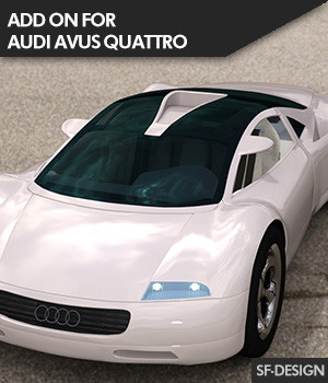 Add On for Audi Avus Quattro for DAZ Studio 3D Figure Assets SF-Design