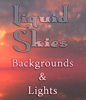 Liquid Skies 2D Graphics 3D Lighting : Cameras ArtByMel
