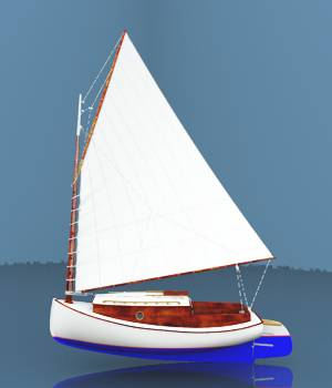 Cook's Cape Cod Catboat For Vue 3D Models forester