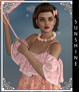 Sunshine for Gypsy Dress 3D Figure Assets sandra_bonello