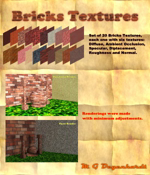 Bricks Textures 2D Graphics mgdegenhardt