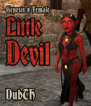 Little Devil For Genesis 8 Female 3D Figure Assets DubTH