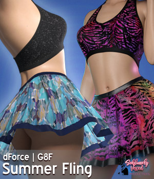 SublimelyVexed SummerFling dForce - G8F 3D Figure Assets 3DSublimeProductions