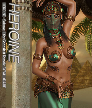 HEROINE - Salome II for Genesis 8 Female 3D Figure Assets Anagord