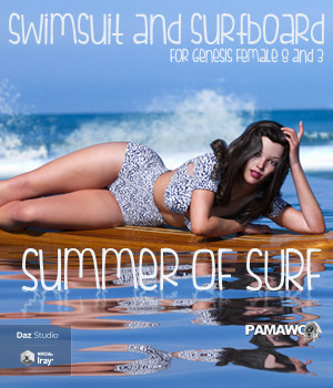 Summer Of Surf For GF3 and GF8 3D Figure Assets pamawo
