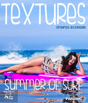 Summer Of Surf Textures DS 3D Figure Assets pamawo