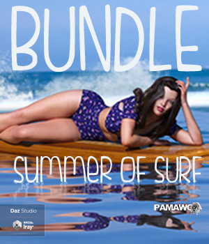 Summer Of Surf BUNDLE For GF3 and GF8 3D Figure Assets 3D Models pamawo