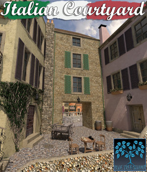 Italian Courtyard 3D Models BlueTreeStudio