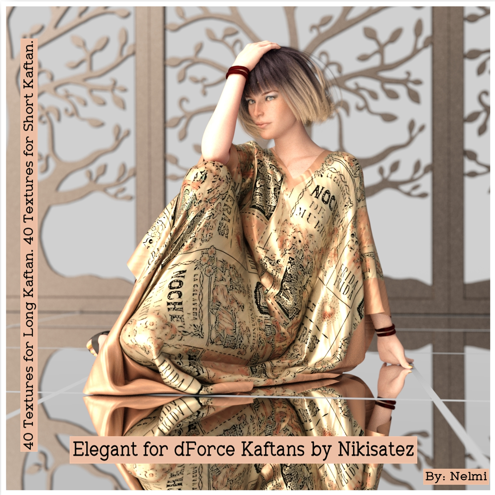 Elegant Texture Set for dForce Kaftans