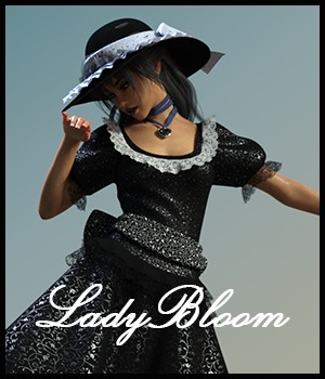 Lady Bloom for dForce Blooms of Lace for Genesis 8 Females 3D Figure Assets Nathalie_