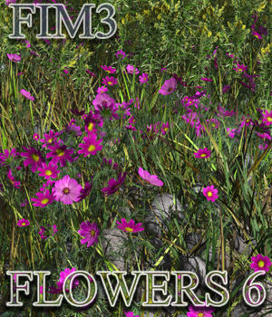 Flinks Instant Meadow 3 - Flowers 6 3D Models Flink