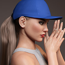 Basecap Ponytail Hair for Genesis 3 and 8 Female(s) image 1