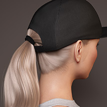 Basecap Ponytail Hair for Genesis 3 and 8 Female(s) image 2