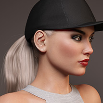 Basecap Ponytail Hair for Genesis 3 and 8 Female(s) image 3