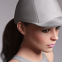 Basecap Ponytail Hair for Genesis 3 and 8 Female(s) image 4
