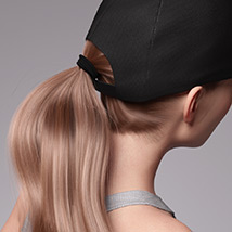 Basecap Ponytail Hair for Genesis 3 and 8 Female(s) image 5