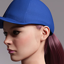 Basecap Ponytail Hair for Genesis 3 and 8 Female(s) image 6