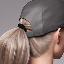 Basecap Ponytail Hair for Genesis 3 and 8 Female(s) image 7