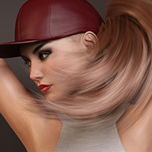 Basecap Ponytail Hair for Genesis 3 and 8 Female(s) image 9