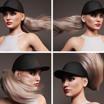 Basecap Ponytail Hair for Genesis 3 and 8 Female(s) image 10