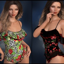 Sirens: dForce - Frilly Swimsuit for G8F image 3
