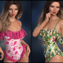Sirens: dForce - Frilly Swimsuit for G8F image 5