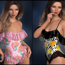 Sirens: dForce - Frilly Swimsuit for G8F image 6