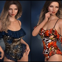 Sirens: dForce - Frilly Swimsuit for G8F image 7