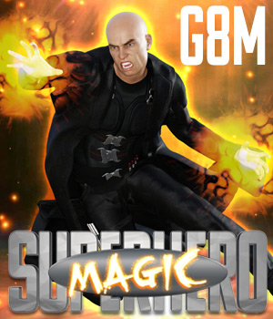 SuperHero Magic for G8M Volume 1 3D Figure Assets GriffinFX