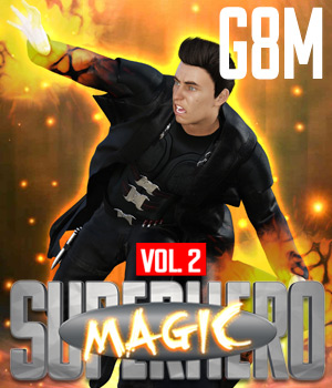 SuperHero Magic for G8M Volume 2 3D Figure Assets GriffinFX