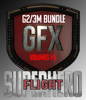SuperHero Flight Bundle for G2M and G3M 3D Figure Assets GriffinFX