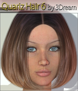 Quariz Hair 6 3D Figure Assets 3Dream