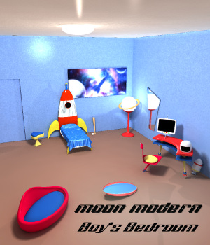 Moon Modern Boys Bedroom 3D Models dhouck
