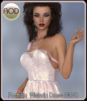Fashion: Wisteria Dress G3G8 3D Figure Assets ArtOfDreams
