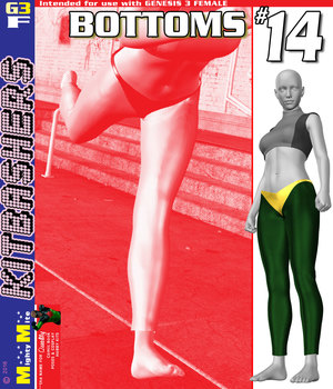 Bottoms 014 MMKBG3F 3D Figure Assets MightyMite