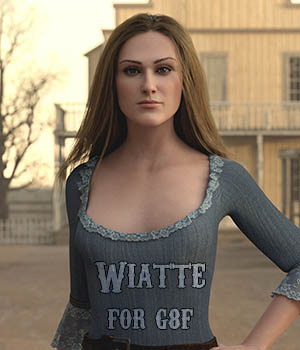 Wiatte for Genesis 8 Female 3D Figure Assets Sangriart