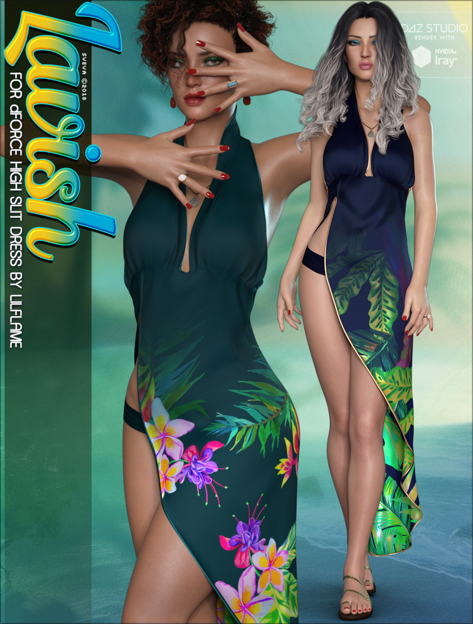 Lavish for dForce High Slit Dress