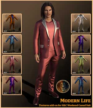 Modern Life for H&C Weekend Casual Suit for Genesis 8 Male 3D Figure Assets Lyone