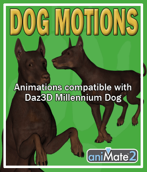 Dog Motions for Daz Studio 3D Figure Assets AnyMatter