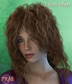 Prae-Lilith Hair For G3 G8 Daz 3D Figure Assets prae