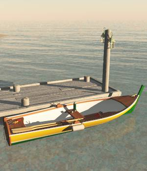 Bay Boat And Pier For Vue 3D Models forester