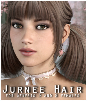 Jurnee Hair for Gen3/8 Females 3D Figure Assets RPublishing