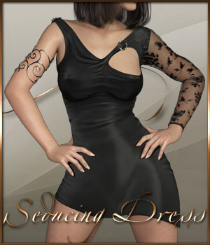 Seducing Dress for Genesis 8 Female 3D Figure Assets ilona